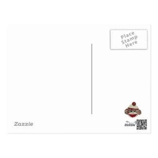 El mono del calcetín le agradece postal
