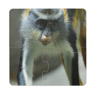 El mono del lobo lindo de Guenon Posavasos De Puzzle
