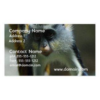El mono del lobo lindo plantilla de tarjeta de negocio