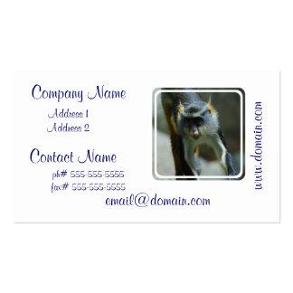 El mono del lobo lindo plantillas de tarjeta de negocio