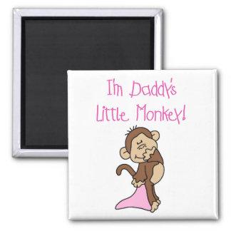 El mono del papá - camisetas y regalos rosados imán cuadrado
