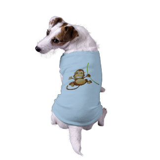 El mono diseñó la camiseta del perrito playera sin mangas para perro