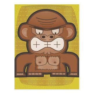 El mono enojado del burro - alta prueba tarjeta postal