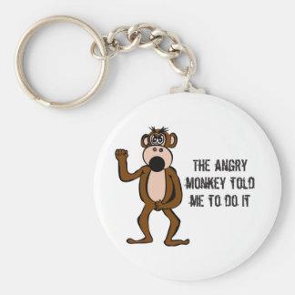 El mono enojado me dijo hacerlo llavero redondo tipo pin