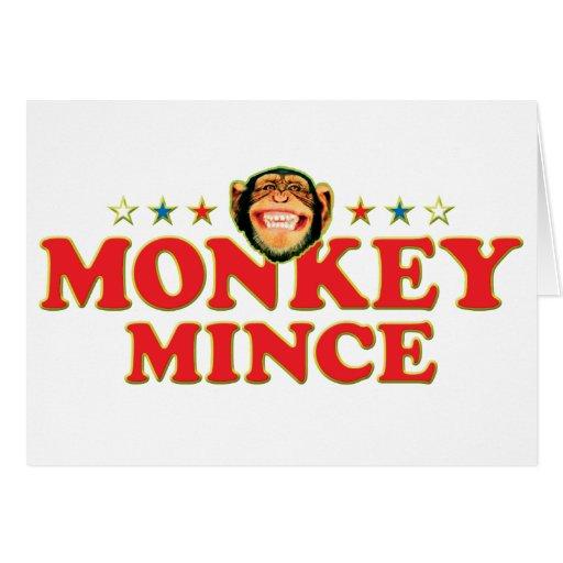 El mono enrrollado pica tarjeta de felicitación