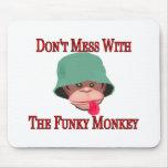 El mono enrrollado tapetes de raton