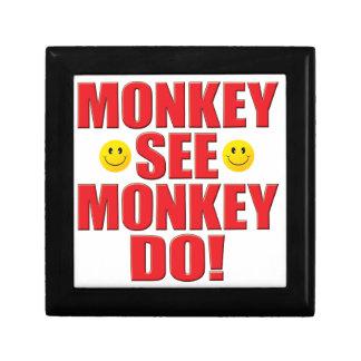 El mono hace vida cajas de joyas