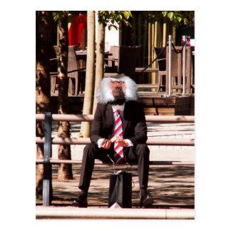 El mono humano tarjeta postal