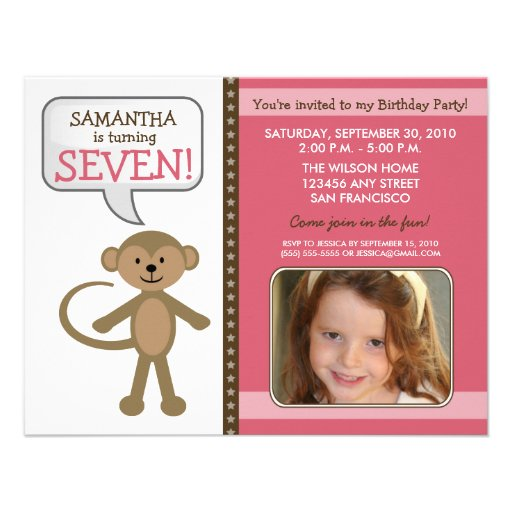 El Mono-ing alrededor de la fiesta de cumpleaños i Anuncio Personalizado