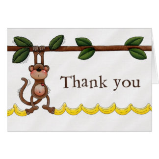 el mono le agradece cardar felicitación