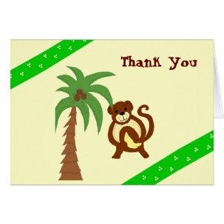 El mono le agradece tarjeta pequeña
