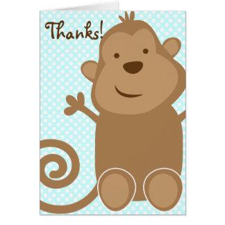 El mono lindo le agradece cardar - el trullo (el e tarjeta pequeña