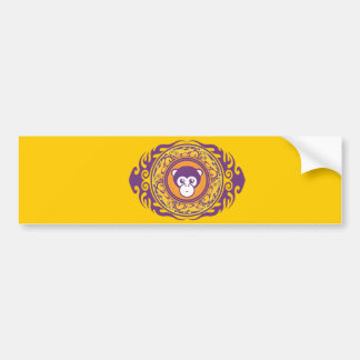 El mono púrpura pegatina para auto