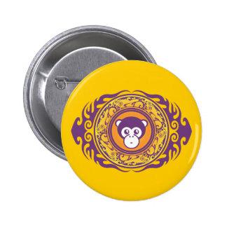 El mono púrpura pin redondo 5 cm