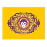 El mono púrpura postal