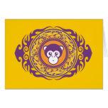 El mono púrpura tarjeta