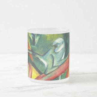 El mono taza de cristal