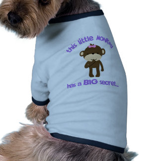 El mono tiene una hermana grande secreta camiseta con mangas para perro