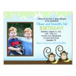 El mono tonto hermana cumpleaños de la foto invita comunicado