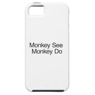 El mono ve el mono Do.ai Funda Para iPhone 5 Tough