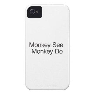 El mono ve el mono Do.ai Case-Mate iPhone 4 Coberturas