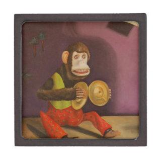 El mono ve el mono hacer cajas de recuerdo de calidad