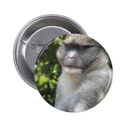 El mono ve, mono hace botón redondo pins