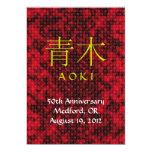 El monograma de Aoki invita Invitación 12,7 X 17,8 Cm