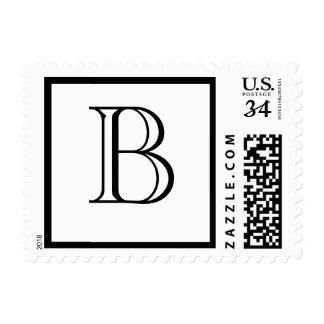 El monograma de encargo del boda de la postal sellos postales