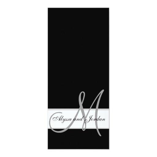 El monograma de la invitación del boda nombra