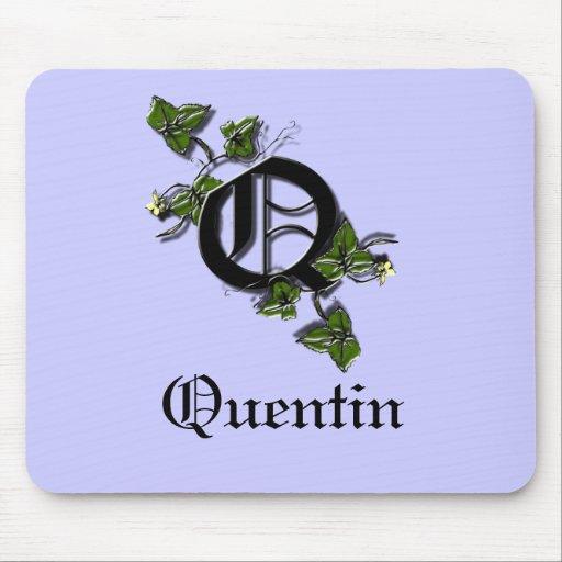 El monograma de la letra Q, personaliza Alfombrillas De Ratones