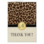El monograma de la piel del leopardo le agradece l