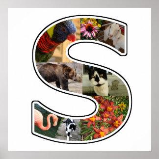 El monograma de S crea su propio collage de la Póster