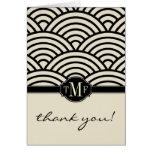 El monograma de Seigaiha le agradece las tarjetas