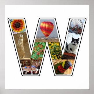 El monograma de W crea su propio collage de la Póster