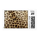 El monograma del leopardo del oro raya el sello