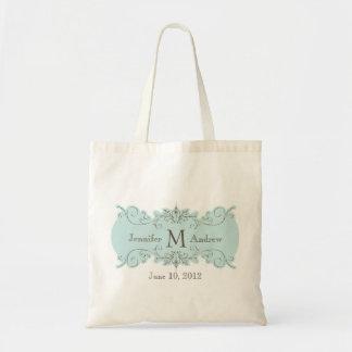 El monograma del remolino del vintage nombra la bo bolsa