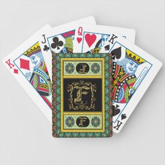 El monograma F una de las tarjetas de una opinión  Barajas