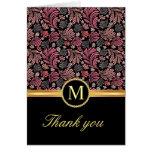 El monograma floral del vintage le agradece las ta