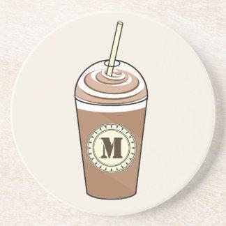 El monograma heló el café para ir práctico de cost posavasos manualidades