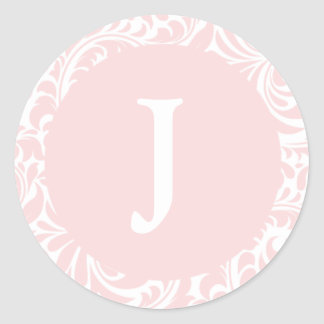 El monograma J se ruboriza los monogramas de Pegatina Redonda