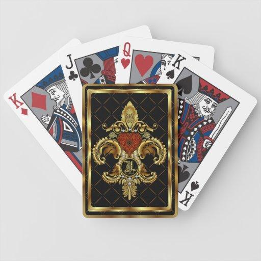 El monograma L uno de una opinión de la clase obse Baraja Cartas De Poker