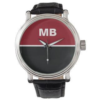 El monograma moderno de los hombres de negocios relojes de mano