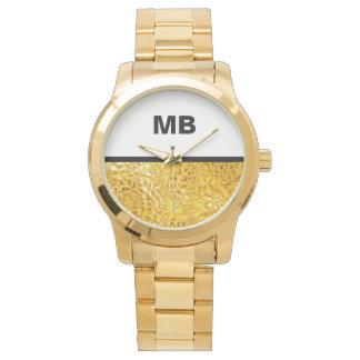 El monograma moderno de los hombres de negocios reloj de mano