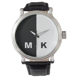 El monograma moderno de los hombres reloj