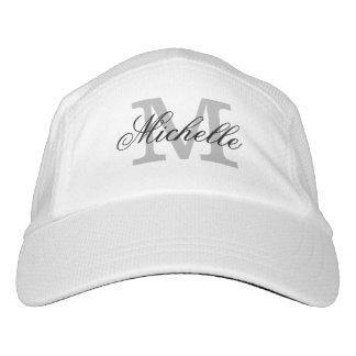 El monograma personalizado se divierte los gorras gorra de alto rendimiento