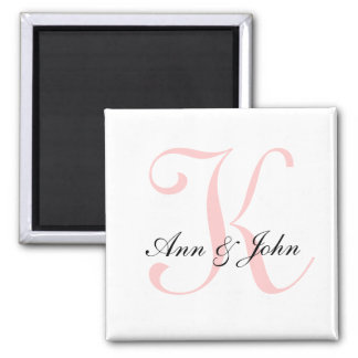 El monograma que casa al novio inicial de la novia imanes