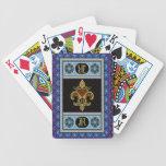 El monograma R uno de las tarjetas de una opinión Baraja De Cartas