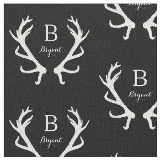 El monograma rústico de las astas de los ciervos, telas
