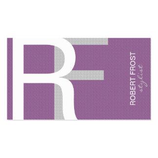 El monograma texturizado de moda ELIGE COLOR DE Tarjeta De Negocio